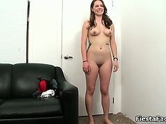 Sexy Brunette Babe Gets Horny Stripping Part3