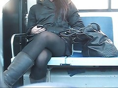 Teen Voyeur Upskirt In The Bus