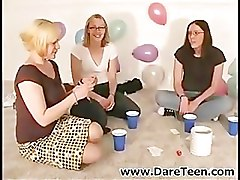 Sexy chicks playing truth or dare game