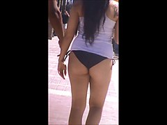 hot big booty thick latina jiggly ass bikini spy 47