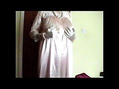 Vintage Pink Satin Nightgown