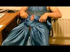 Jizzing on my slinky satin prom dress