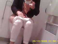 caught wife in toilets hidden spy cam hairy private sazz