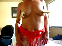 squirtys gold & silver medaled nipples & sexy muscles