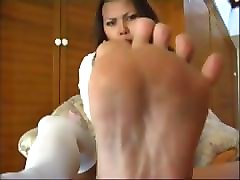 hottest asian feet soles with socks
