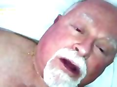 hairy silverdaddy grandpa bear sucks cock and takes pictures