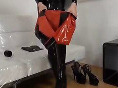 dress up sexy latex fetish rubber doll