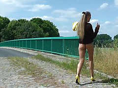 flashing on a bridge and fucking in cornfield