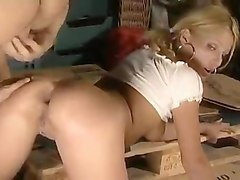 Anal Blond Dubbel Anal Trekant