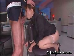 Hot And Sexy Asian Secretary Blows Rigid Part3