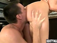 big ass girl gets her ass eaten out