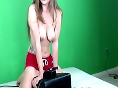 lelu love webcam sybian riding double orgasm