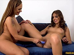 Katarina Muti  in  Two horny friends suck and fuck for a job part 1 - FakeAgent