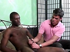 muscle gay sucking and rubbing fat black dong