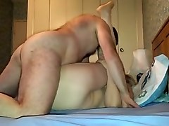 mature blonde slut fucked bad in a missionary position