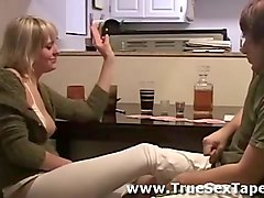 hot young amateur couple getting drunk in homemade sex tape