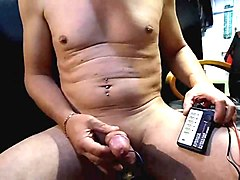 Ejac with Estim anal and brake cock