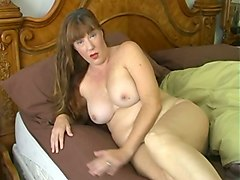 horny brunette milf with sexy big rack acted like a hoe while masturbating