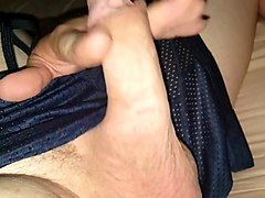 hot old man playing with cum