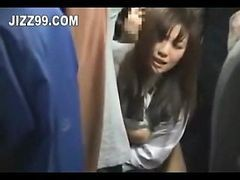 Japanese Schoolgirl Creampie Fucked On Bus 02