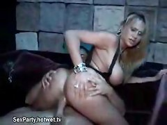 College Blonde Has Fun With New Friend At Sex Party