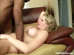 Busty Blonde Interracial Anal