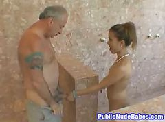 Asian Blowjobs Old Man In Public Shower