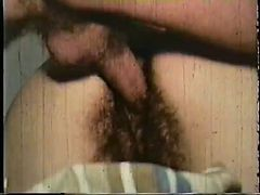 Vintage: Two Hairy Brunettes Pounded