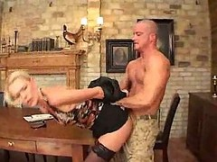 Thin Milf Assfucked On Table